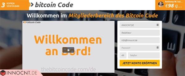 bitcoin code mitgliederbereich
