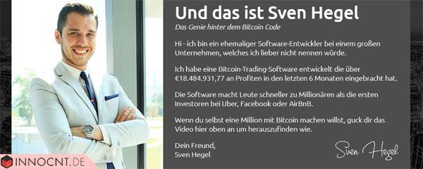 sven hegel bitcoin code erfinder